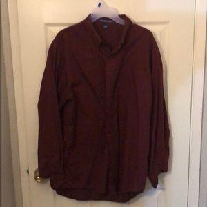 Burgundy long sleeve button down